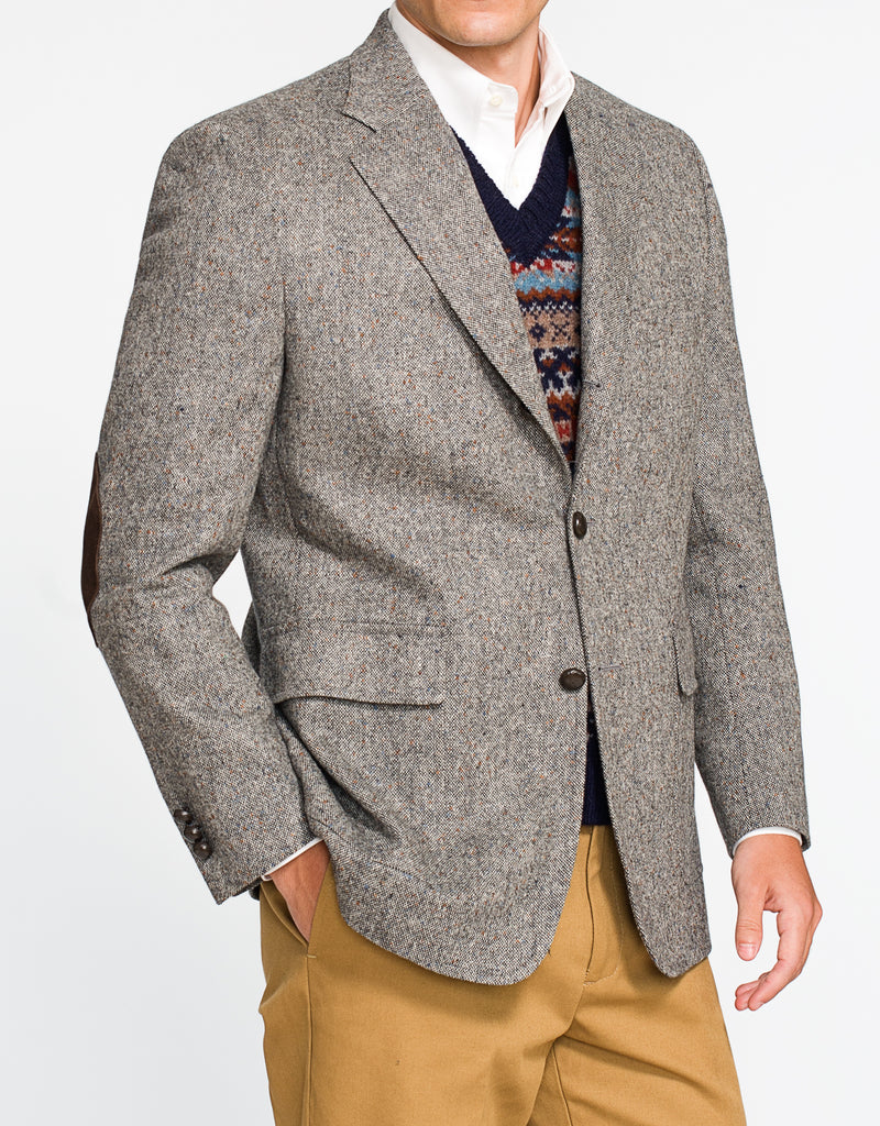 LIGHT GREY DONEGAL TAILGATE SPORT COAT - CLASSIC FIT