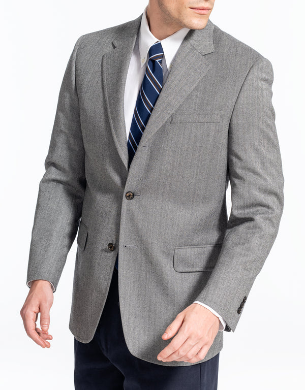 CHARCOAL TIC WINDOWPANE SPORT COAT - CLASSIC FIT