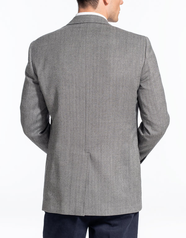 CHARCOAL HERRINGBONE SPORT COAT - CLASSIC FIT