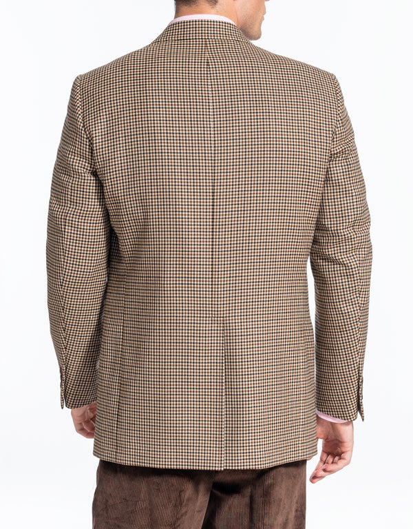 BROWN MULTICHECK SPORT COAT - CLASSIC FIT