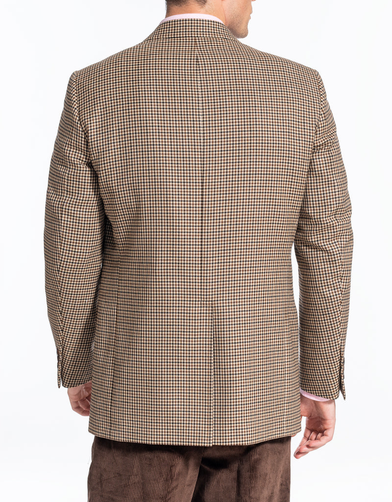 BROWN MULTICHECK SPORTCOAT
