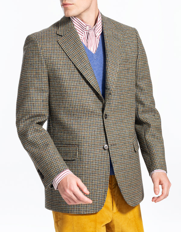 GREEN MULTICHECK SPORT COAT - CLASSIC FIT