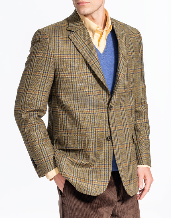 OLIVE MULTI PLAID SPORT COAT - CLASSIC FIT