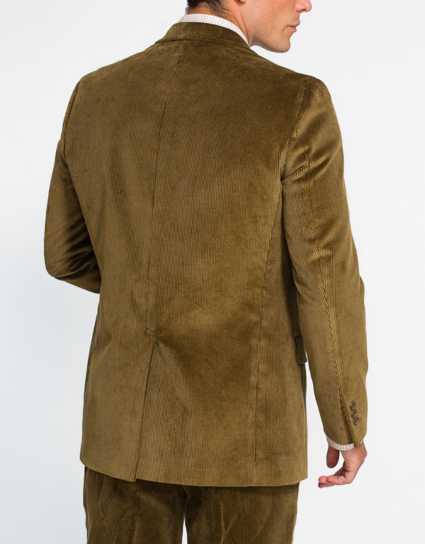 BROWN/OLIVE CORDUROY SPORT COAT - CLASSIC FIT