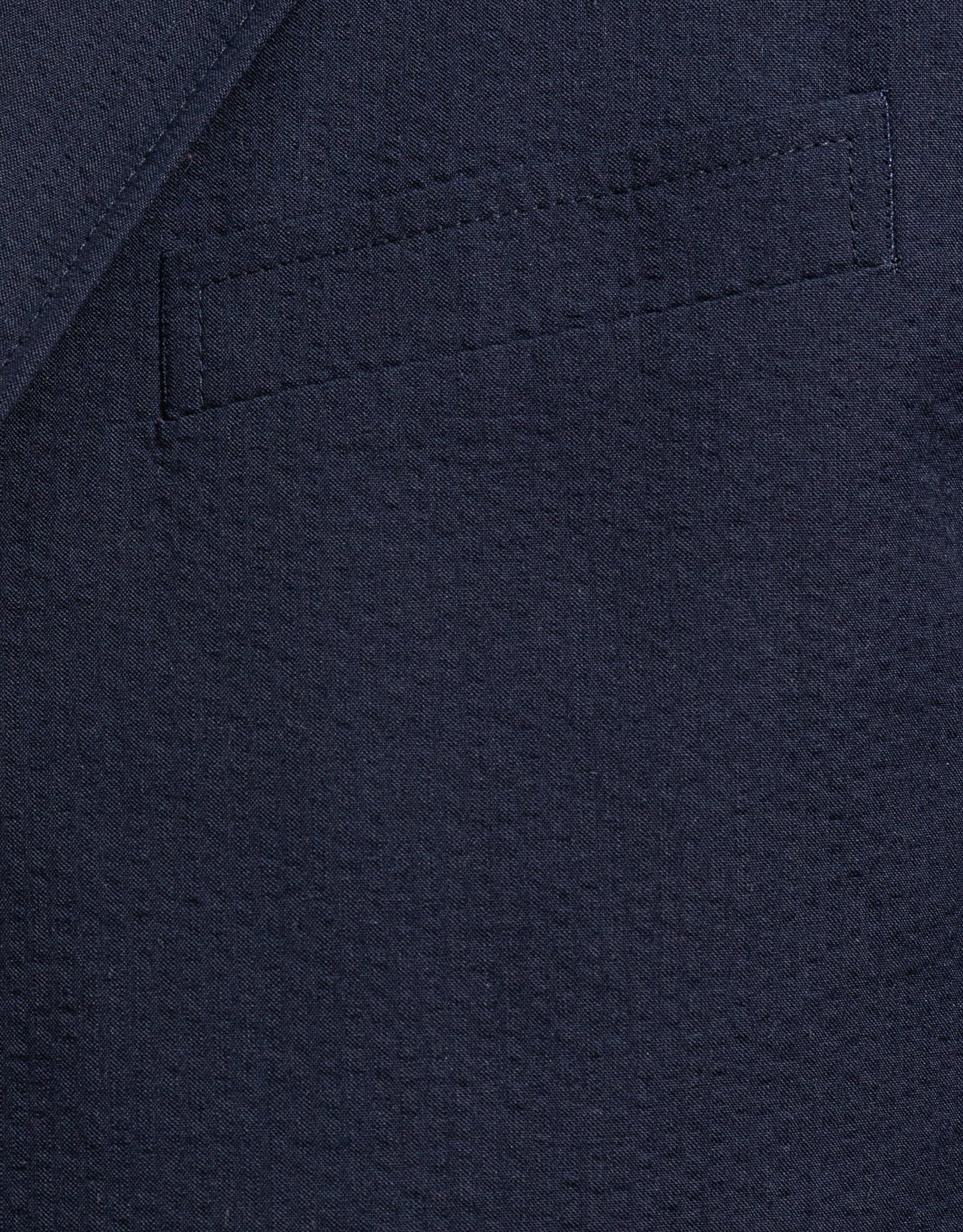 NAVY COTTON SEERSUCKER