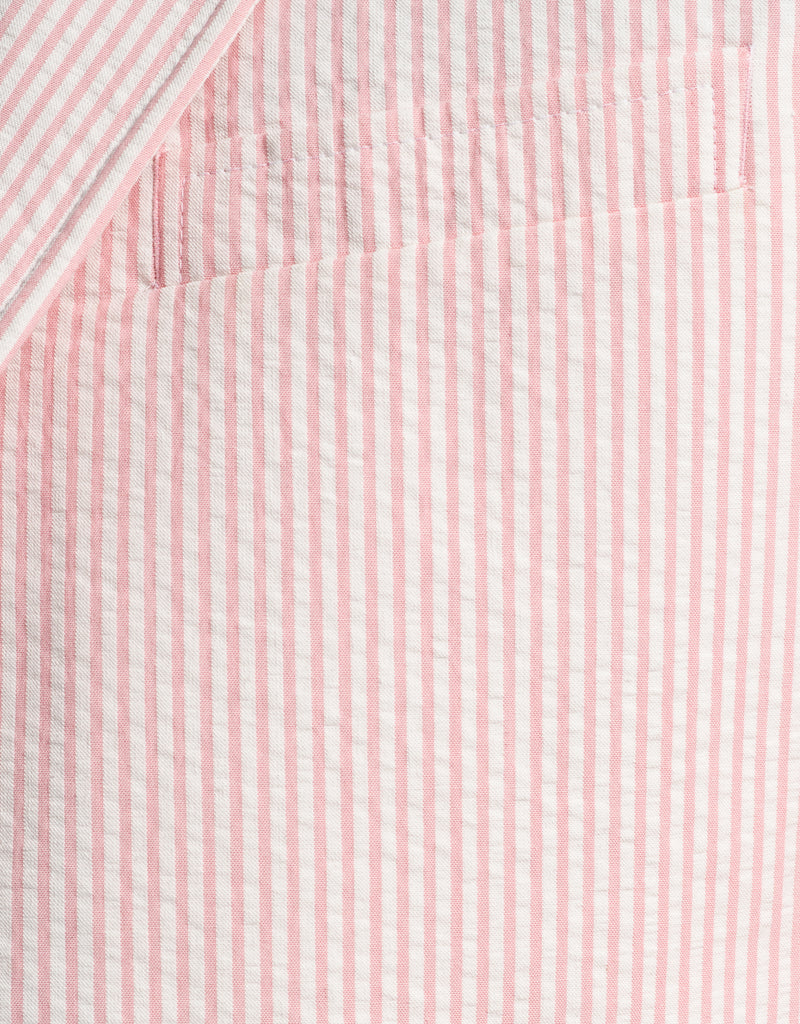 PINK WHITE COTTON SEERSUCKER