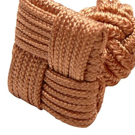 SILK KNOTS SQUARE - BROWN