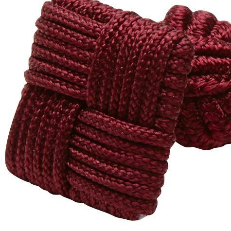 Silk Knots Square Dark Red