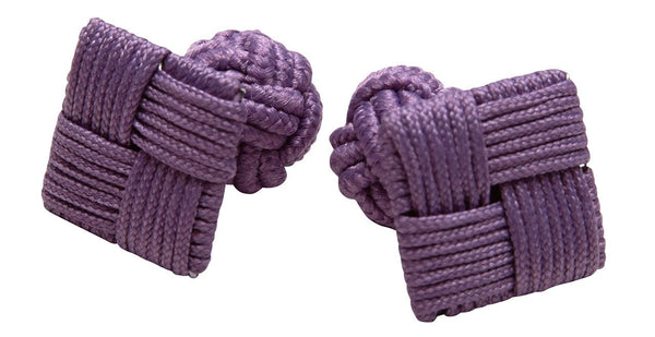 Silk Knots Square Purple