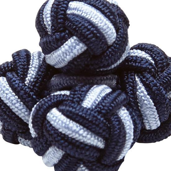SILK KNOTS ROUND - NAVY/BLUE