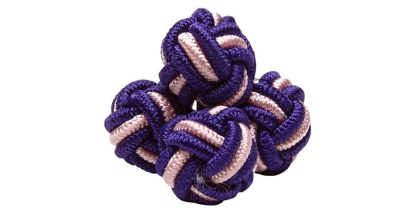 SILK KNOTS ROUND - PURPLE/PINK