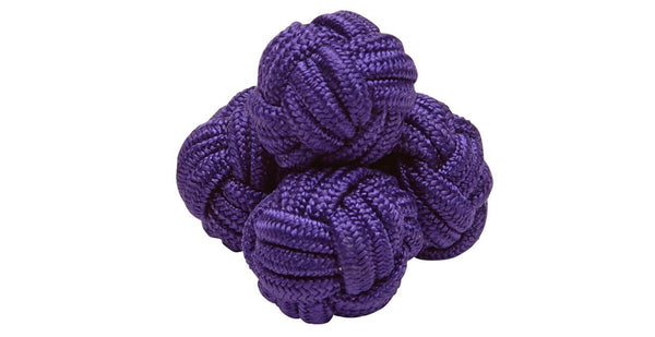 SILK KNOTS ROUND - PURPLE