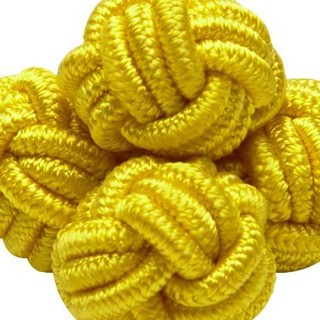 SILK KNOTS ROUND - YELLOW