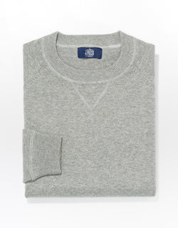 J. PRESS COTTON LINEN SWEATSHIRT - GREY