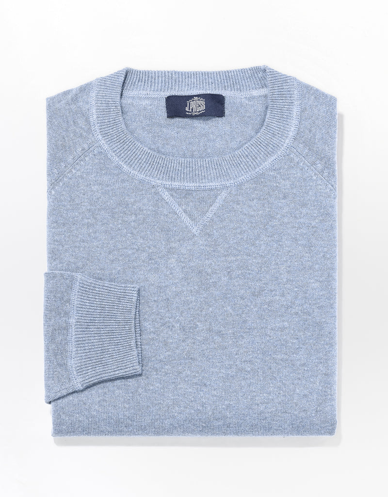 J. PRESS COTTON LINEN SWEATSHIRT - BLUE