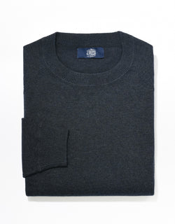 J. PRESS COTTON LINEN SWEATSHIRT - NAVY BLUE