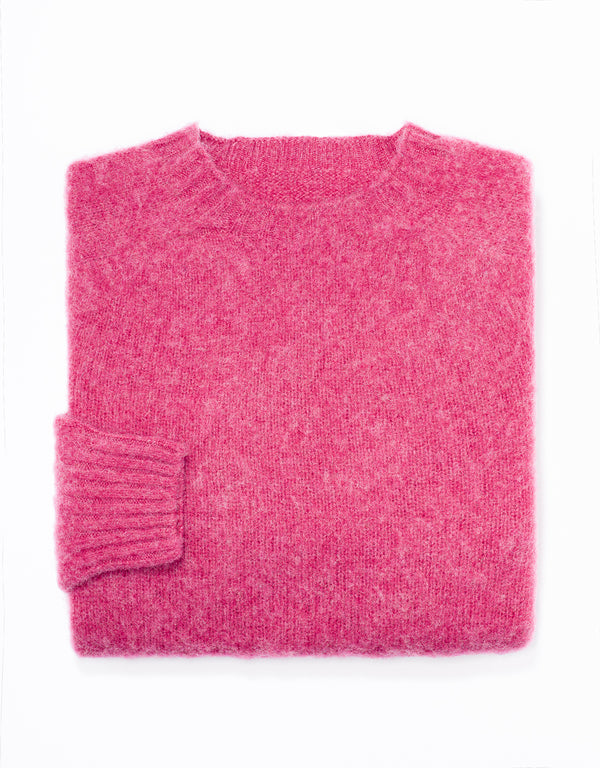 SHAGGY DOG SWEATER PINK - TRIM FIT
