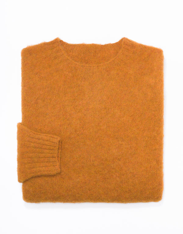 SHAGGY DOG SWEATER ORANGE - TRIM FIT