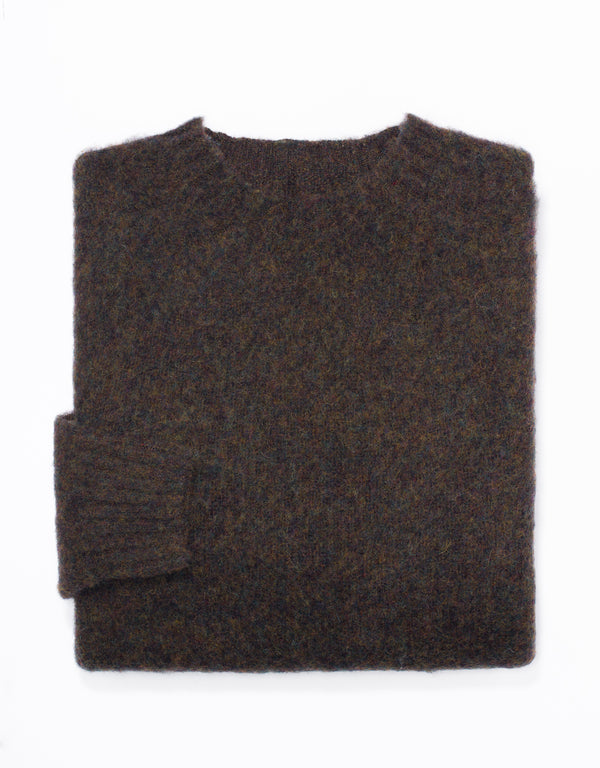 SHAGGY DOG SWEATER BROWN - TRIM FIT
