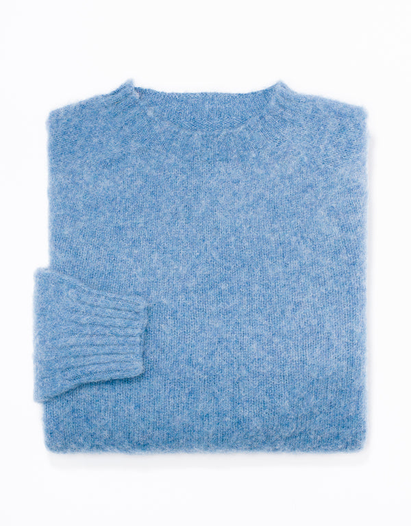 SHAGGY DOG SWEATER BLUE - TRIM FIT