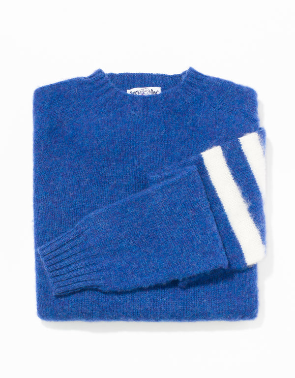 SHAGGY DOG SWEATER BLUE UNIVERSITY STRIPE - TRIM FIT