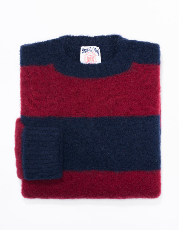 SHAGGY DOG STRIPE  NAVY/RED - CLASSIC FIT
