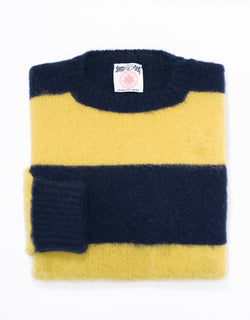SHAGGY DOG STRIPE  NAVY/YELLOW - CLASSIC FIT