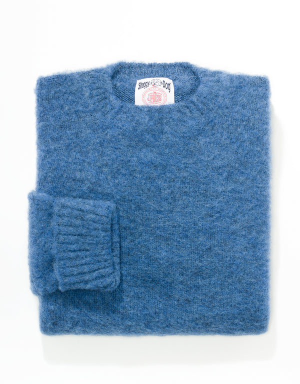 CLASSIC FIT SHAGGY DOG SWEATER - BLUE