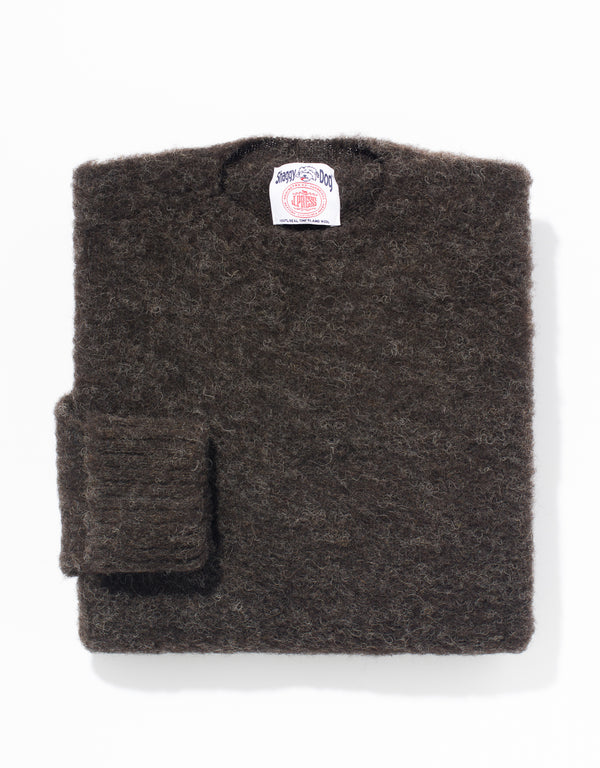 SHAGGY DOG SWEATER CLASSIC - BLACK