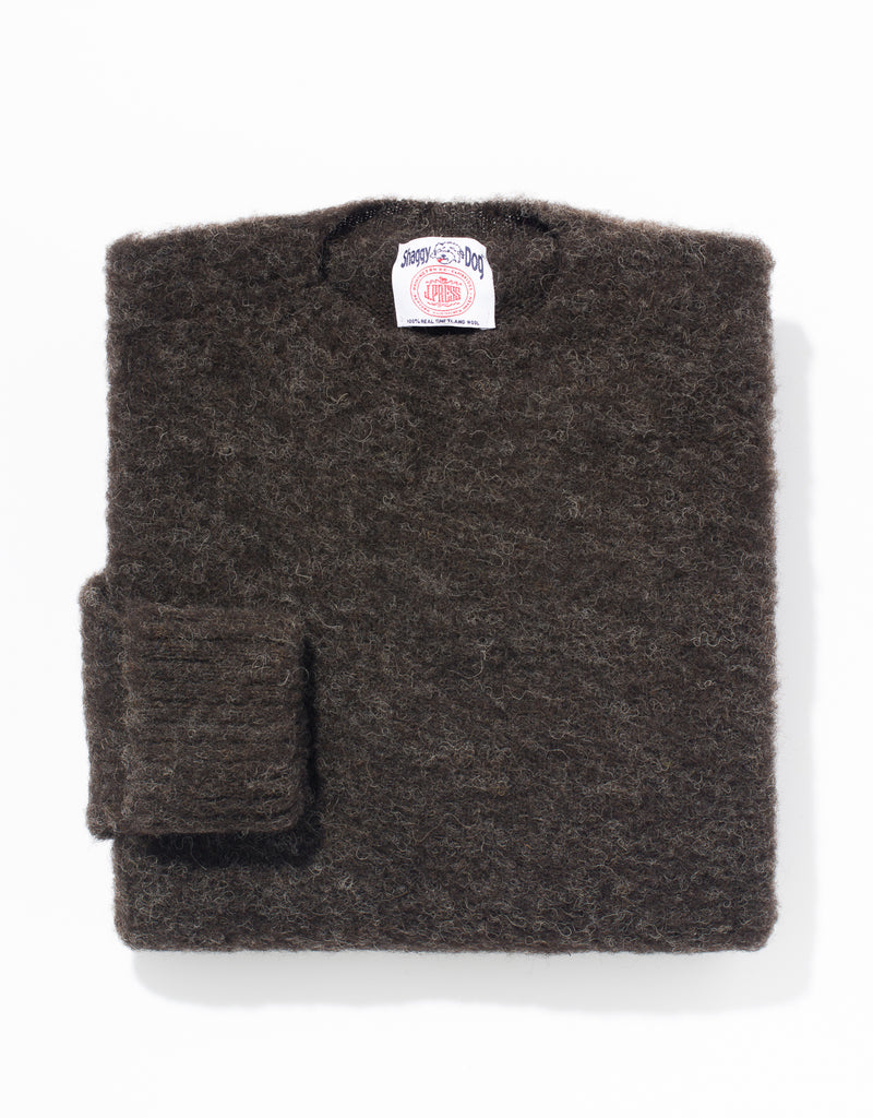 SHAGGY DOG SWEATER BLACK - CLASSIC FIT