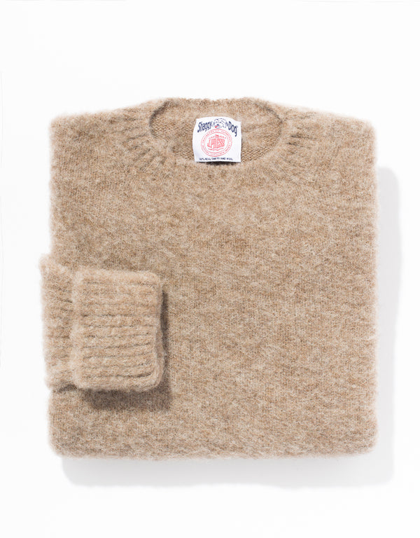 SHAGGY DOG SWEATER LIGHT BROWN - CLASSIC FIT