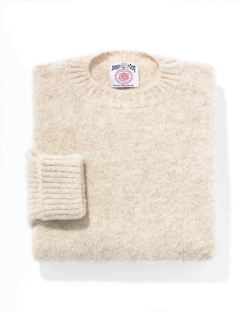 SHAGGY DOG SWEATER IVORY - CLASSIC FIT