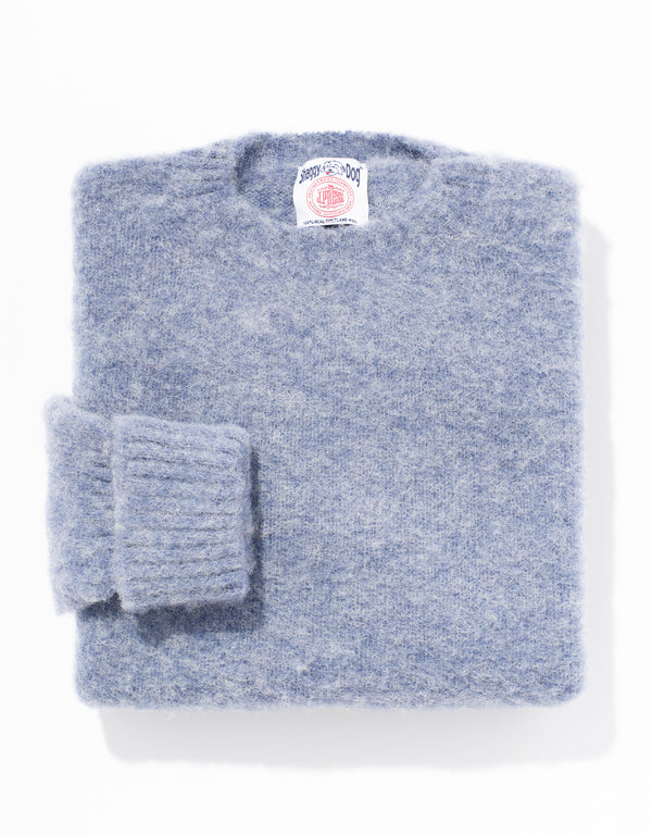 SHAGGY DOG SWEATER CLASSIC - BLUE