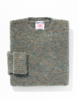 SHAGGY DOG SWEATER BLUE/BROWN - CLASSIC FIT