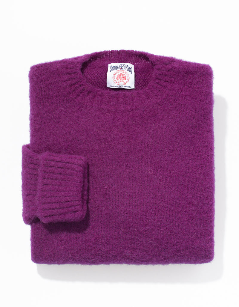 SHAGGY DOG SWEATER PURPLE - CLASSIC FIT