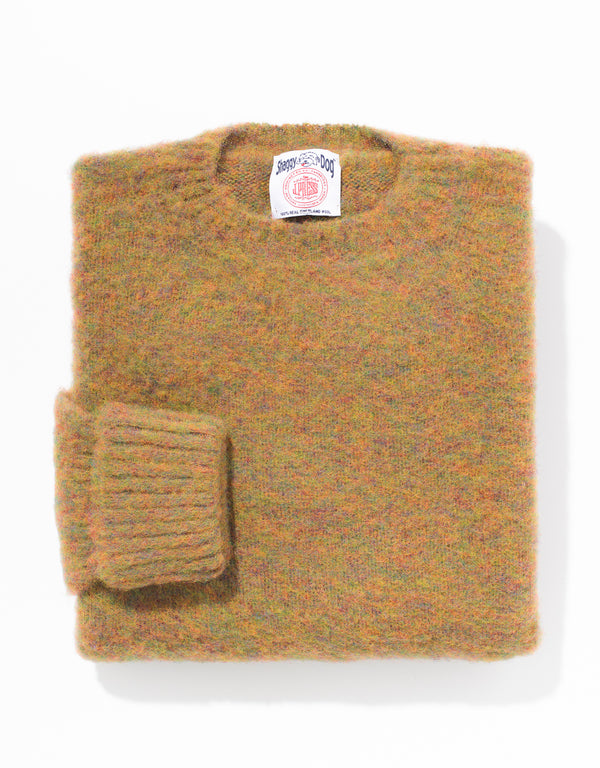 SHAGGY DOG SWEATER CLASSIC - ORANGE MIX