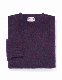 SHAGGY DOG SWEATER PURPLE - TRIM FIT