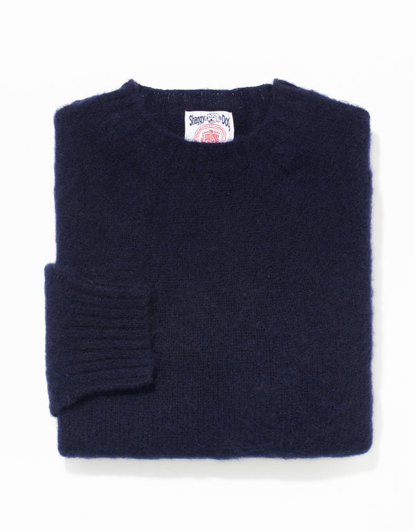 SHAGGY DOG SWEATER NAVY - TRIM FIT