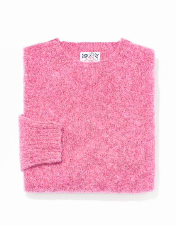 SHAGGY DOG SWEATER LIGHT PINK - TRIM FIT