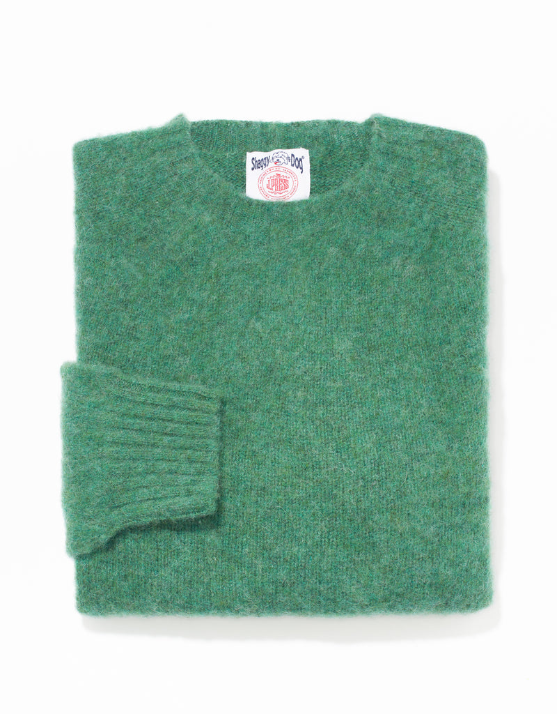 SHAGGY DOG SWEATER GREEN - TRIM FIT