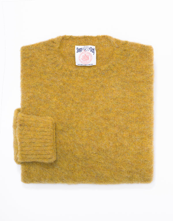 SHAGGY DOG SWEATER YELLOW MIX - CLASSIC FIT