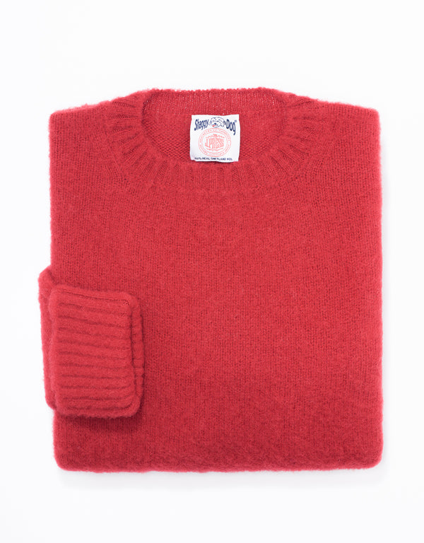 SHAGGY DOG SWEATER RED - CLASSIC FIT