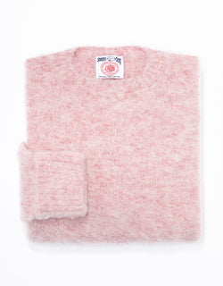 SHAGGY DOG SWEATER PINK HEATHER - CLASSIC FIT
