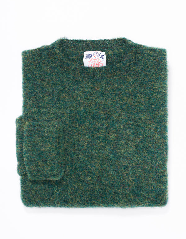 SHAGGY DOG SWEATER GREEN - CLASSIC FIT
