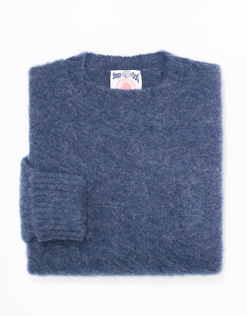 SHAGGY DOG SWEATER BLUE - CLASSIC FIT
