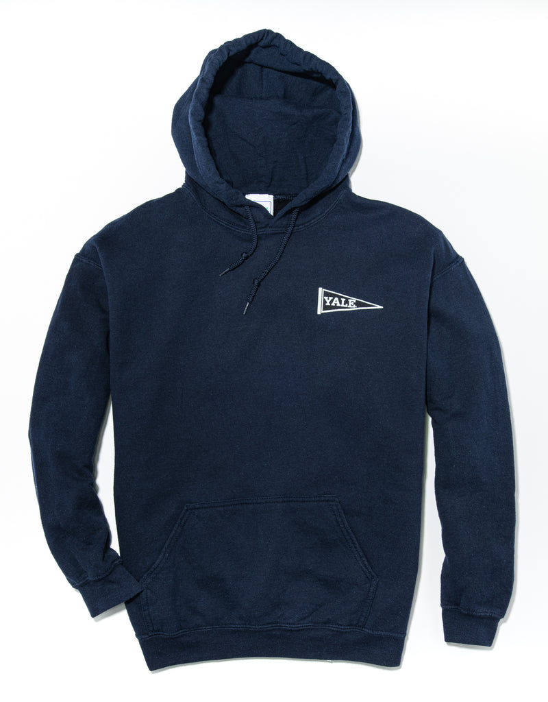 J. PRESS LONG SLEEVE YALE UNIVERSITY HOODIE - NAVY