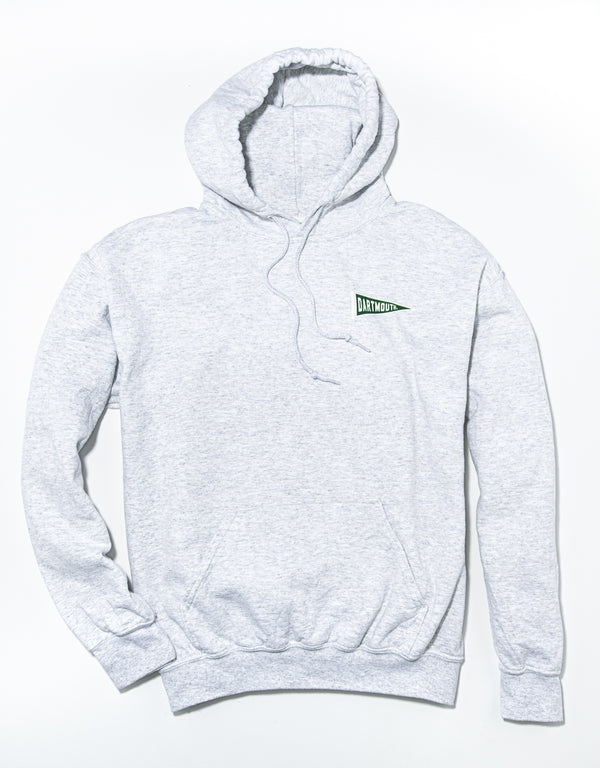 J. PRESS LONG SLEEVE DARTMOUTH COLLEGE HOODIE - GREY