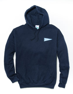 J. PRESS LONG SLEEVE COLUMBIA UNIVERSITY HOODIE - NAVY