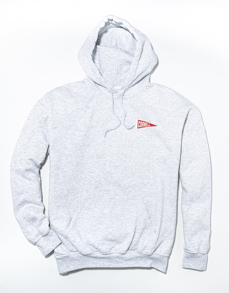 J. PRESS LONG SLEEVE CORNELL UNIVERSITY HOODIE - GREY