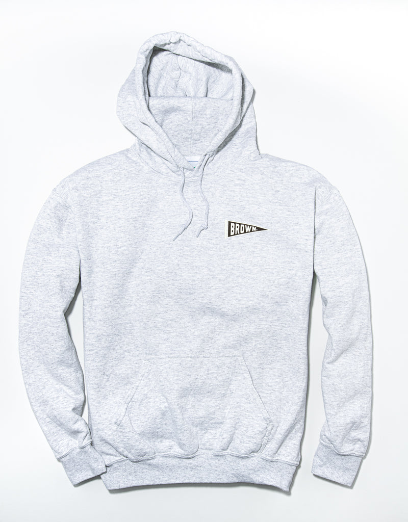 J. PRESS LONG SLEEVE BROWN UNIVERSITY HOODIE - GREY